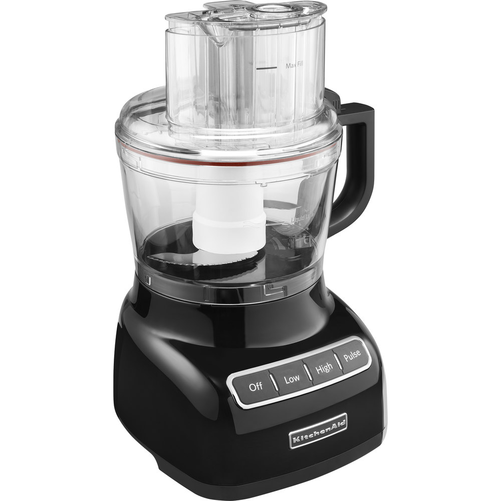 kitchenaid kfp0922ob onyx black 9 cup food processor. Black Bedroom Furniture Sets. Home Design Ideas