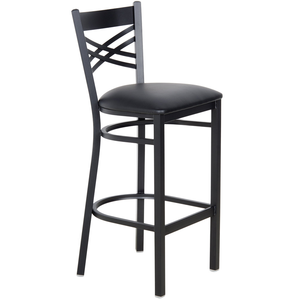 Lancaster Table & Seating Cross Back Bar Height Chair with 2 1/2 ...