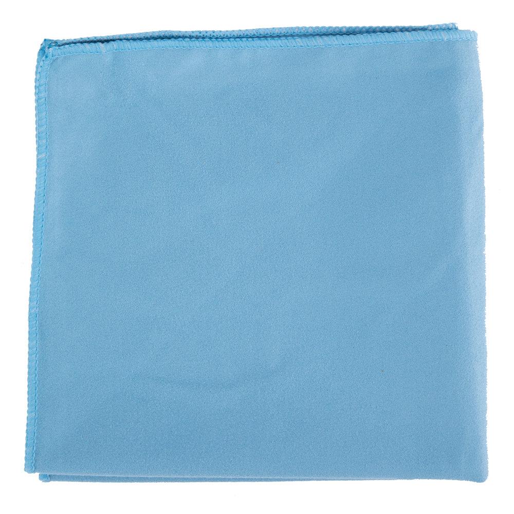 15 Quot X 15 Quot Blue Microfiber Glass Fine Polishing Cloth