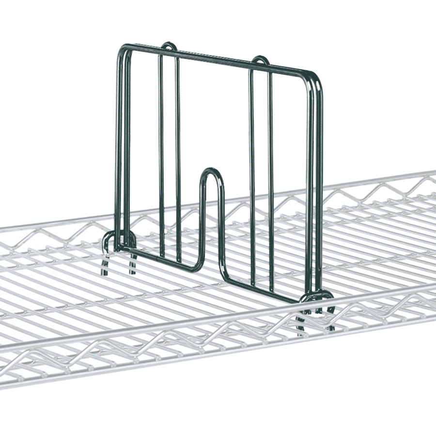 "Metro HD18-DSG Smoked Glass Drop Mat Snap-On Divider - 18"" Wide"