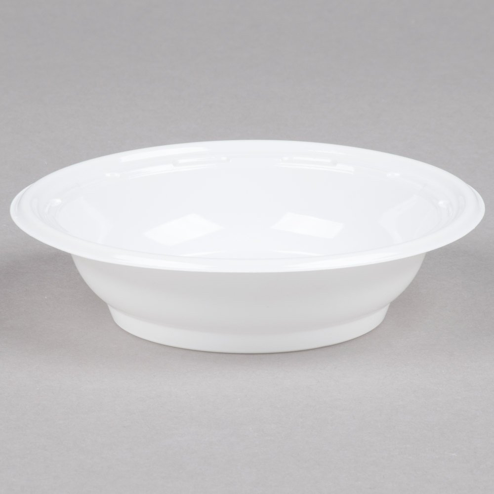 Dart Solo 4BWWF 4 oz. White High Impact Plastic Bowl - 125/Pack