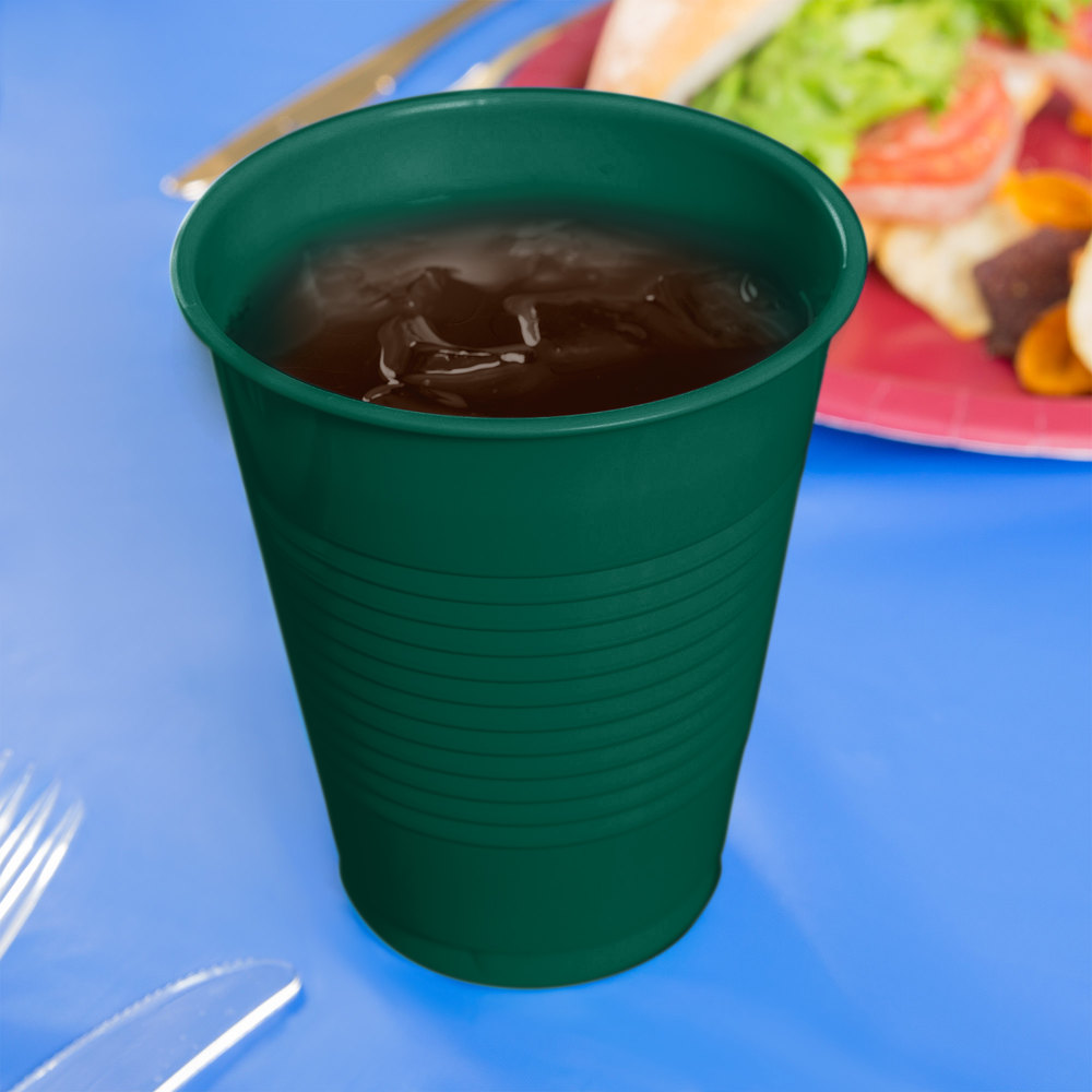 Creative Converting 28312481 16 oz. Hunter Green Plastic Cup - 20/Pack