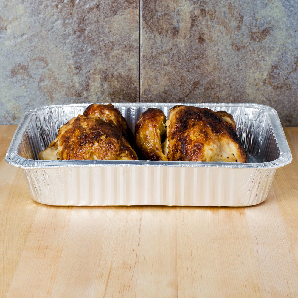 Durable Packaging 6700 100 Foil Roast Casserole Pan 10