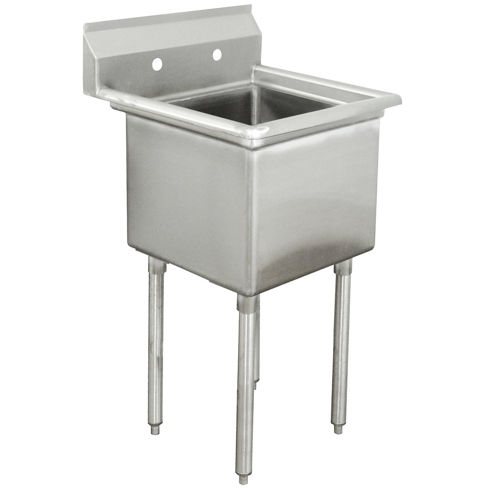 Advance Tabco FE-1-1812 One Compartment Stainless Steel Commercial Sink - 23""