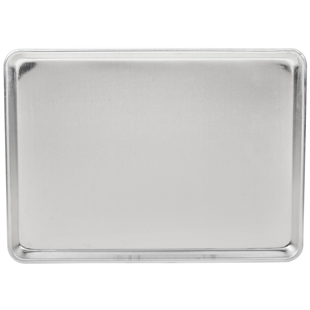 "Advance Tabco 18-8A-13 Half Size 18 Gauge Aluminum Sheet Pan - Wire in Rim, 18"" x 13"""