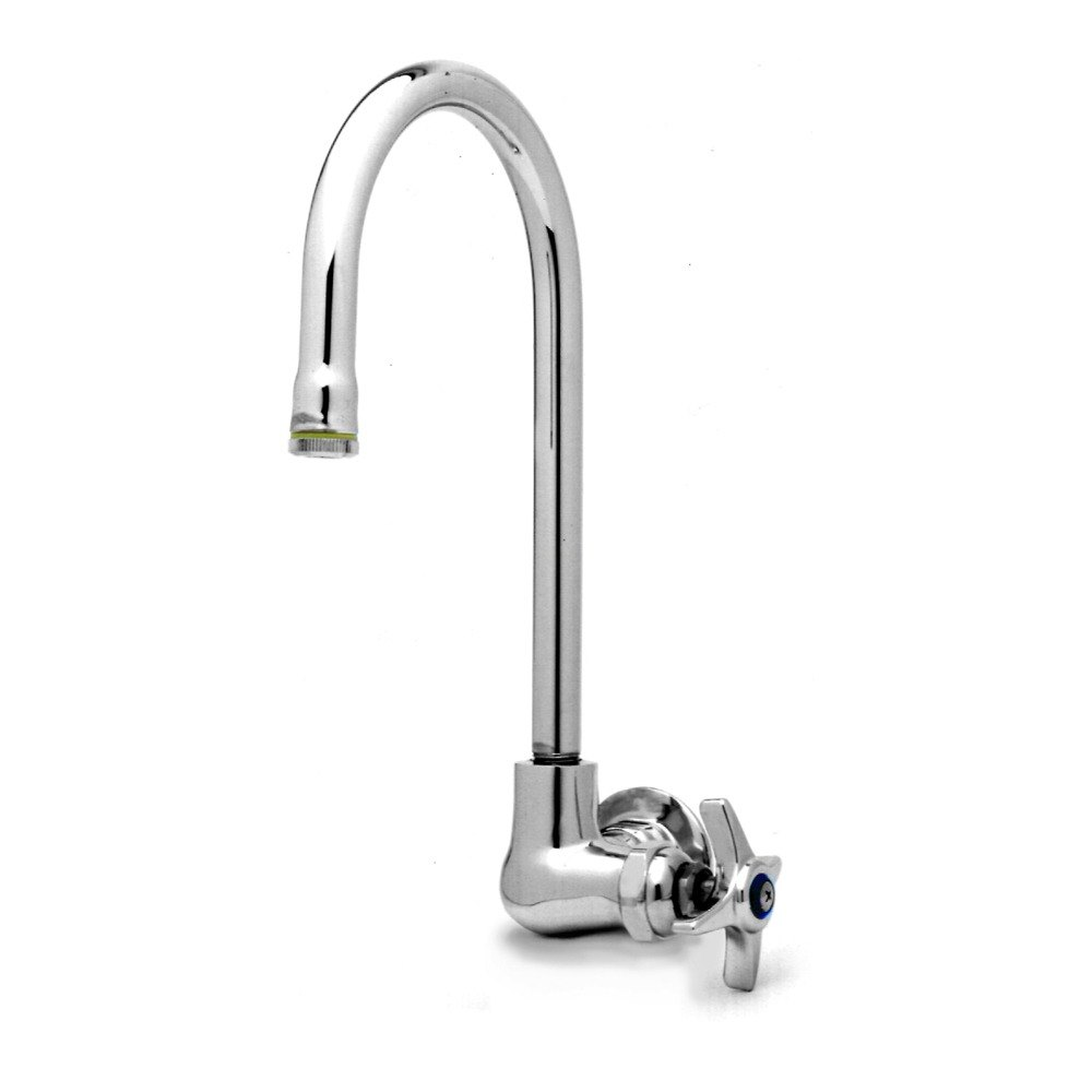 T&S B-0312 Wall Mounted Single Pantry Faucet with Four Arm Handle ...