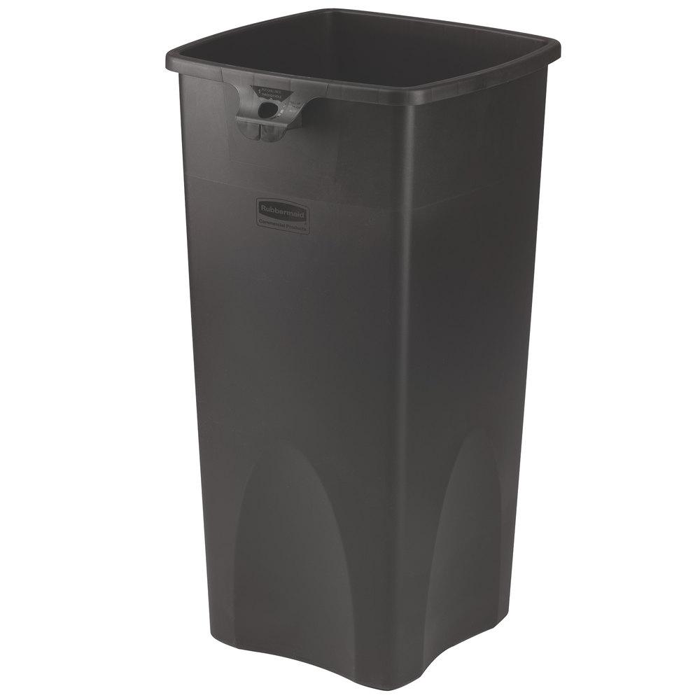 Rubbermaid Fg356988bla Untouchable Black 23 Gallon Square Trash Can