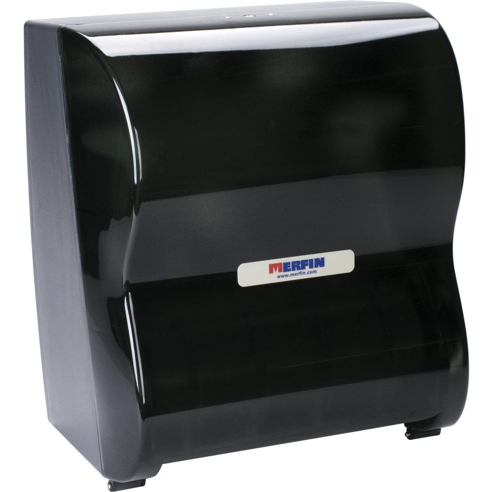 Merfin 1060 Black Hands Free Roll Towel Dispenser