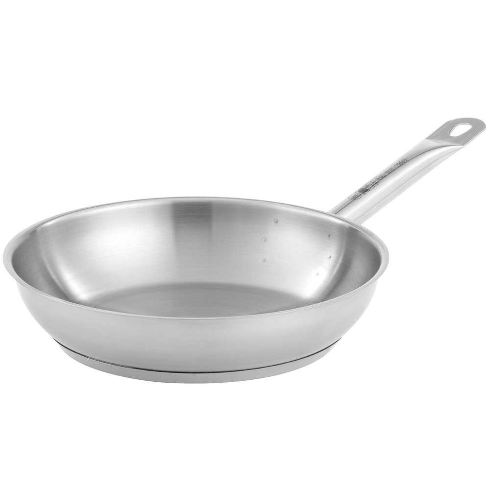 "Vollrath 3812 Optio 12 1/2"" Natural Finish Fry Pan"
