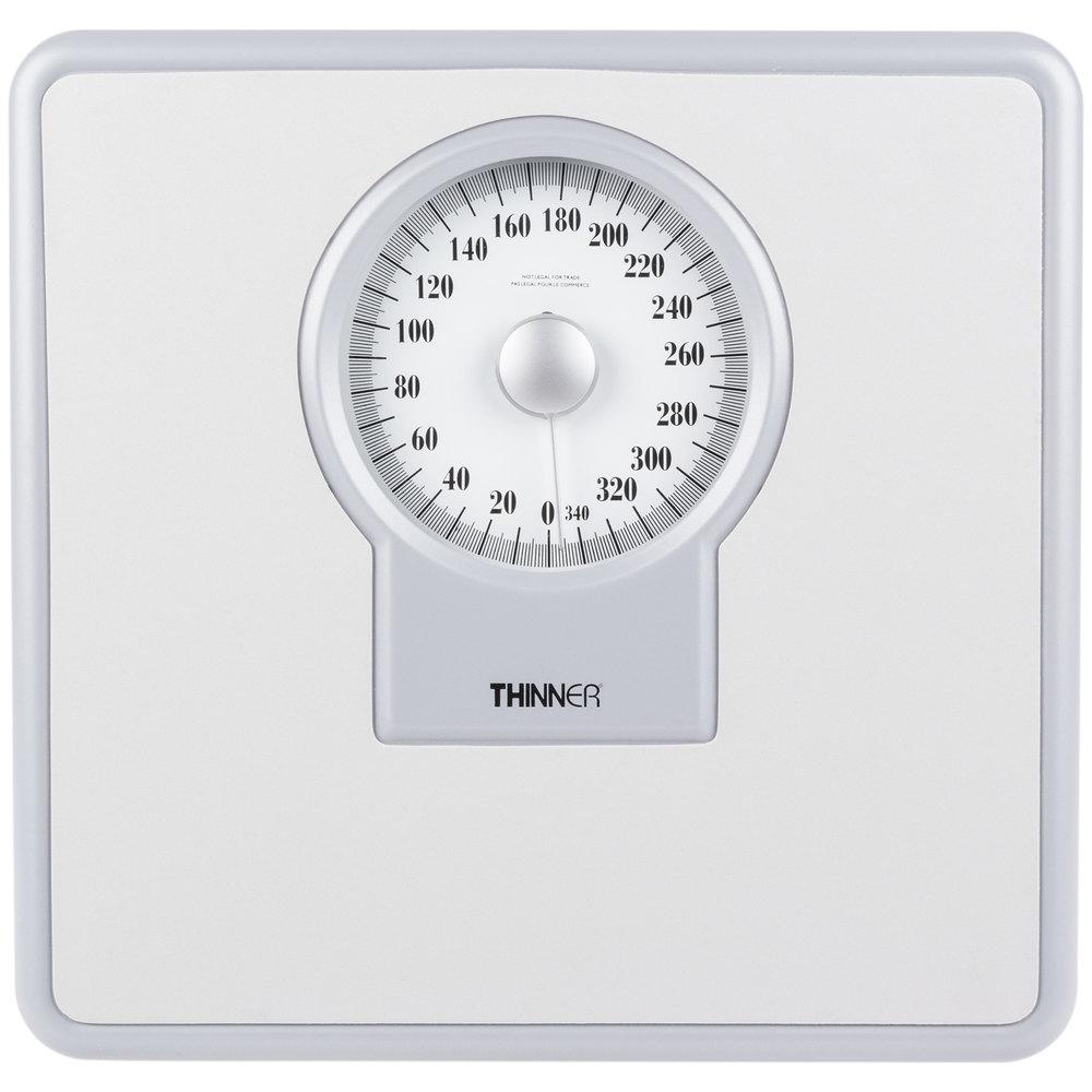 Thinner bathroom scale