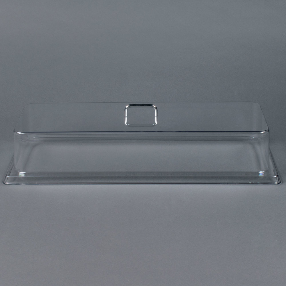 "Cambro RD926CW 26 11/16"" x 10"" x 6 1/6"" Rectangular Pastry Tray Cover"