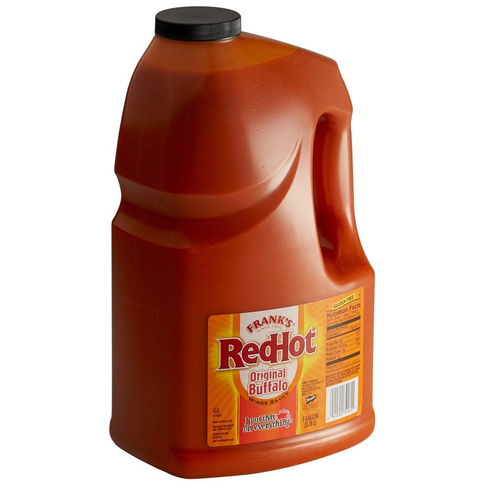 1 Gallon Frank S Redhot Wings Buffalo Wing Sauce