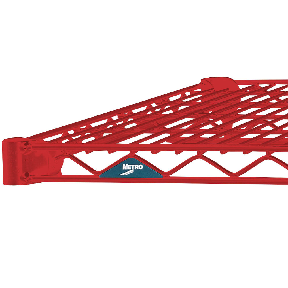 "Metro 2448NF Super Erecta Flame Red Wire Shelf - 24"" x 48"""