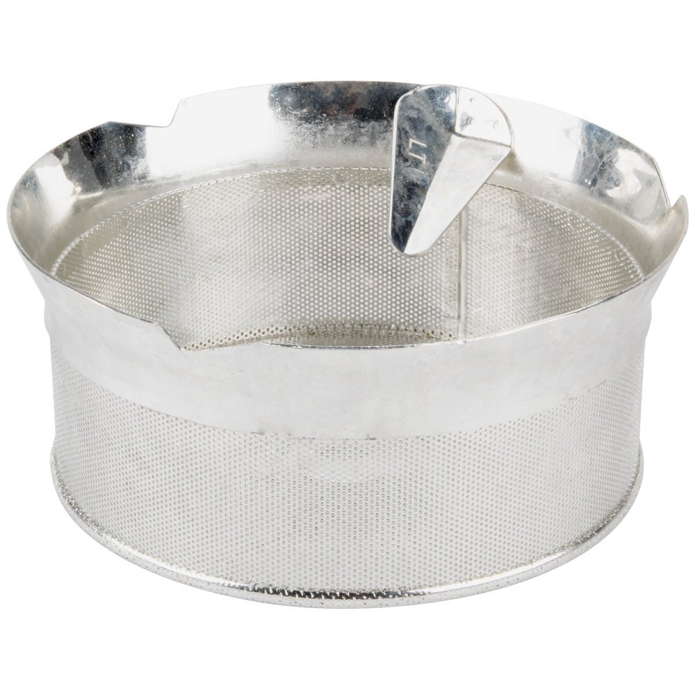 "Tellier P10010 1/32"" Perforated Replacement Sieve for 15 Qt. Food Mill on Stand - Tinned Steel"