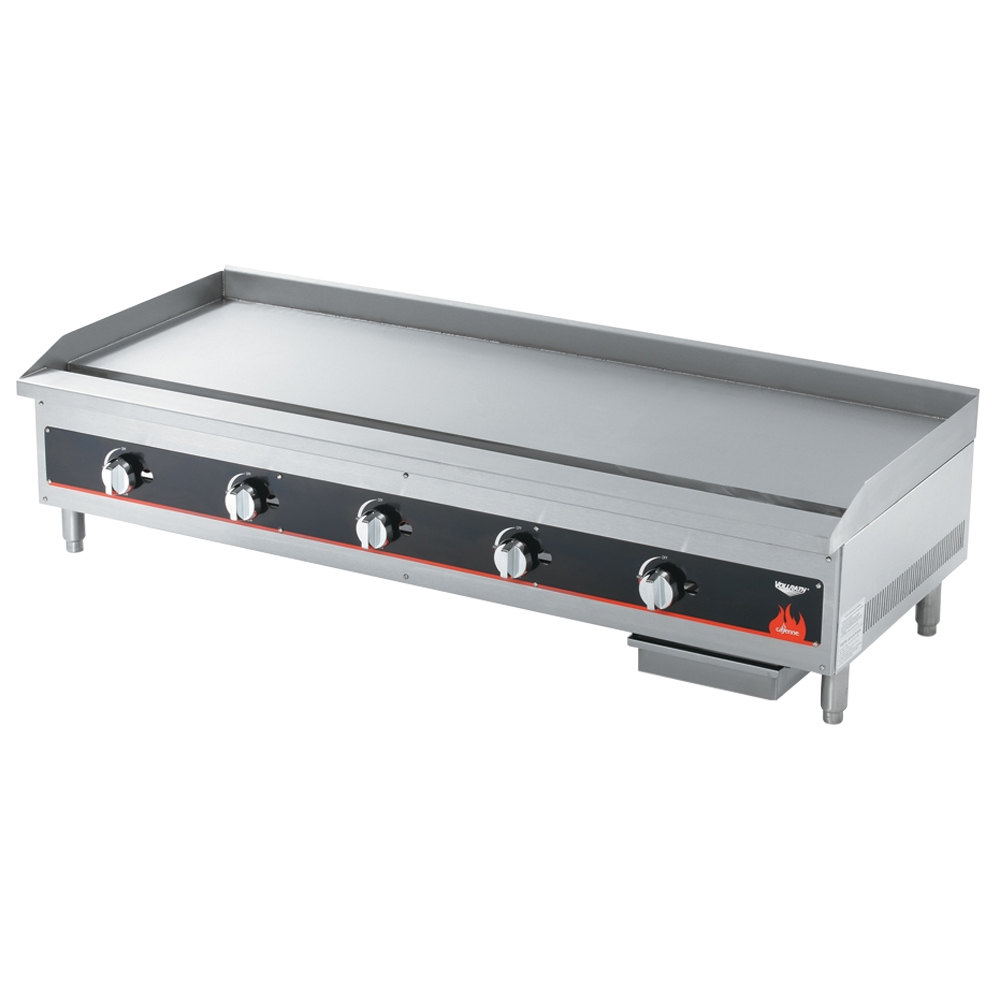 "Vollrath 40840 Cayenne 60"" Flat Top Gas Countertop Griddle - Manual Control"