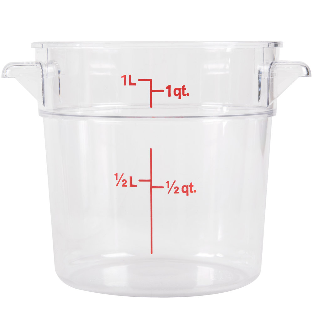 Cambro Rfscw1 Camwear 1 Qt Clear Round Food Storage Container