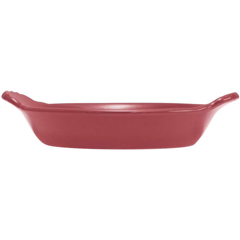 Hall China 30433326 Scarlet 8 oz. Colorations Round Au Gratin Baking Dish 24 / Case