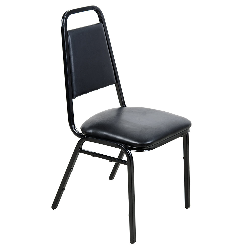 Lancaster table & seating black stackable banquet chair with 1 ...