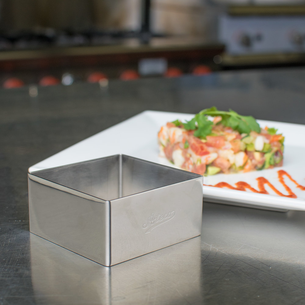 "Ateco 4904 2 3/4"" Stainless Steel Square Form (August Thomsen)"