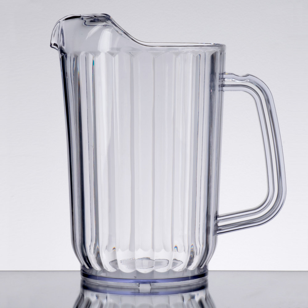 choice 32 oz clear san plastic beverage pitcher. Black Bedroom Furniture Sets. Home Design Ideas