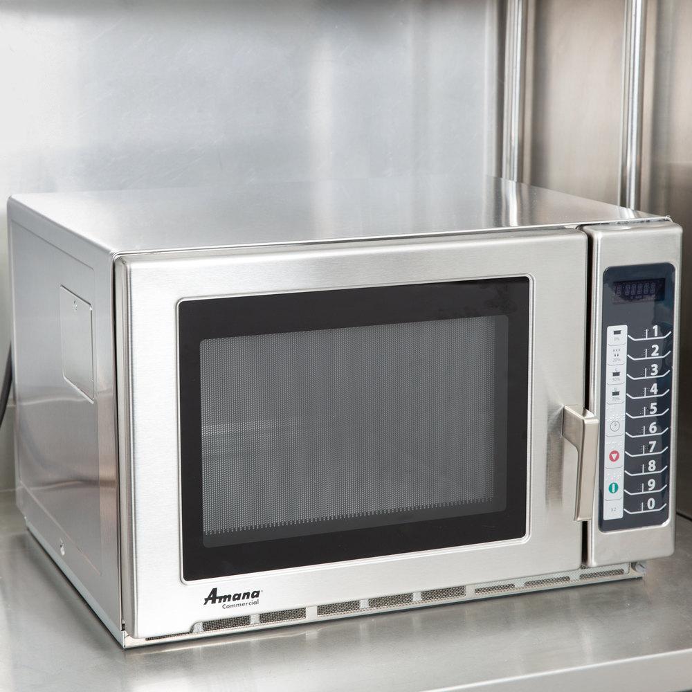 Heavy Duty Microwaves Amana Rfs18ts Medium Duty Stainless Steel Commercial Microwave