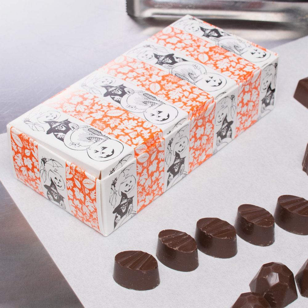 "7 1/8"" x 3 3/8"" x 1 7/8"" 1-Piece 1 lb. Halloween Candy Box - 250/Case"