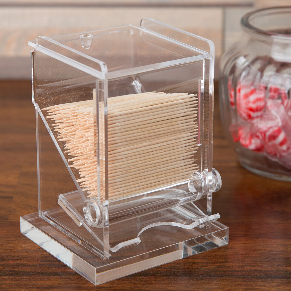 Cal mil 295 classic unwrapped toothpick dispenser 3 3 4 x 3 1 4 x 5 1 4 - Tooth pick dispenser ...