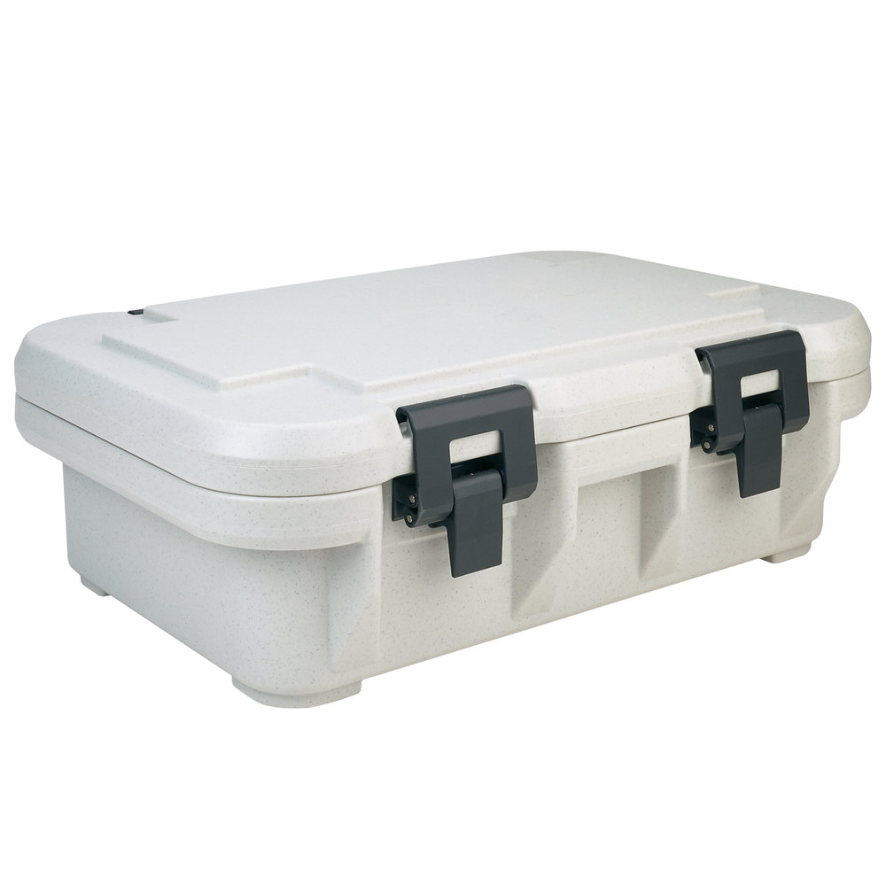 Cambro UPCS140480 Speckled Gray S-Series Ultra Food Pan Carrier Insulated Top Loading Deep