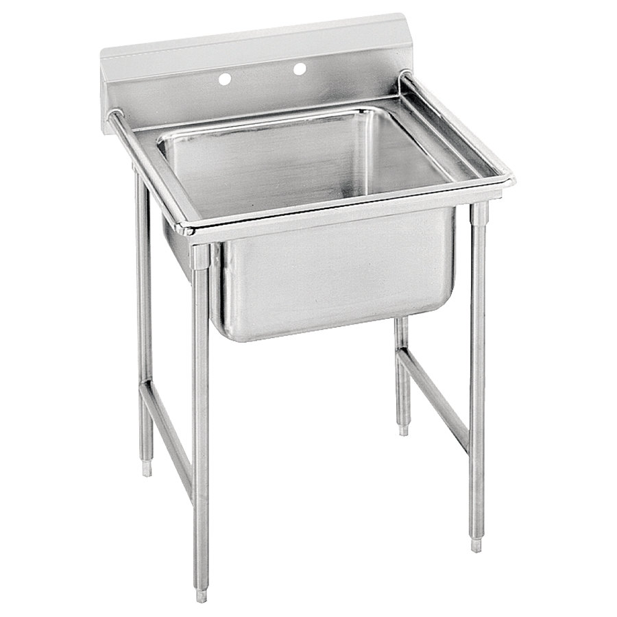 Advance Tabco 9-41-24 Super Saver One Compartment Pot Sink - 33""