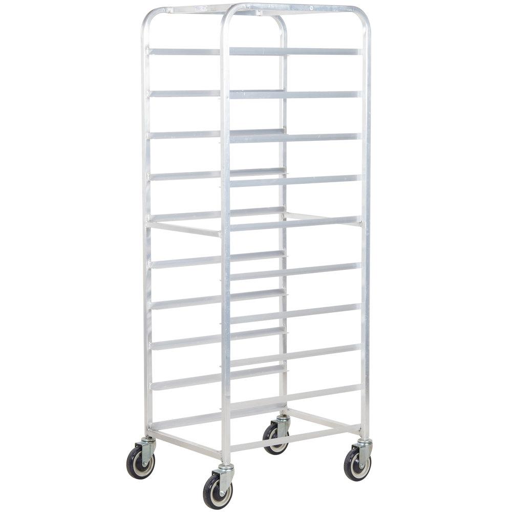winholt al-1810b end load aluminum platter cart