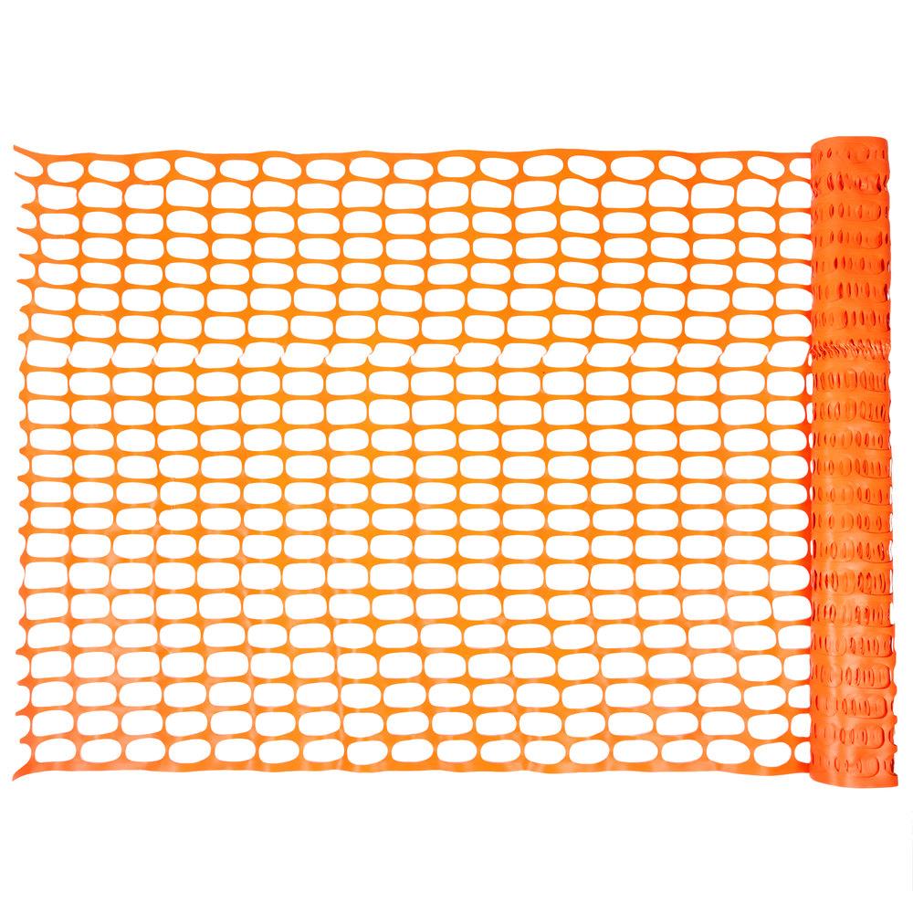 Ft orange safety fencing oval pattern