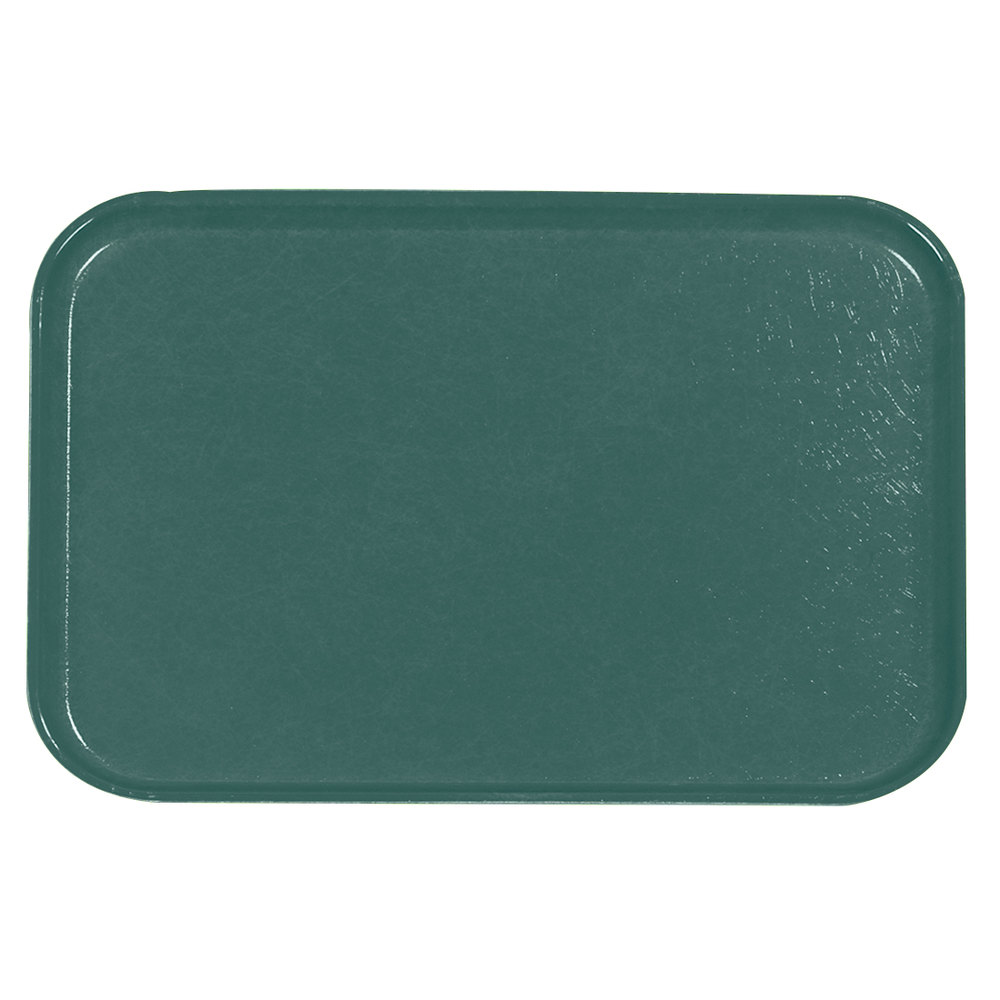 "Carlisle 2618FGQ010 Customizable Forest Green 18"" x 26"" Glasteel Display / Bakery Fiberglass Tray - 6/Case"