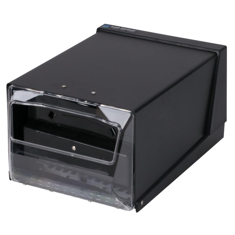 San Jamar H3001CLBK Fullfold Countertop Napkin Dispenser - Clear Face ...