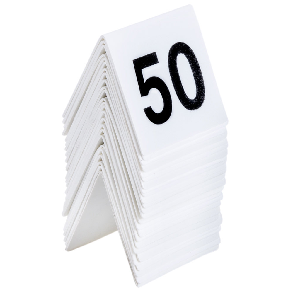 ... Numbers 26 Through 50 Table Tent Number. Main Picture ...  sc 1 st  WebstaurantStore & GET NUM-26-50 Numbers 26 Through 50 Table Tent Number