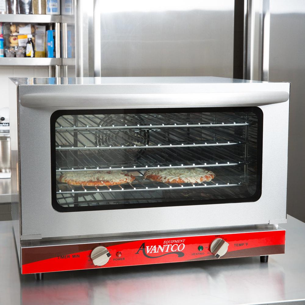Avantco Co 16 Half Size Countertop Convection Oven 1 5 Cu