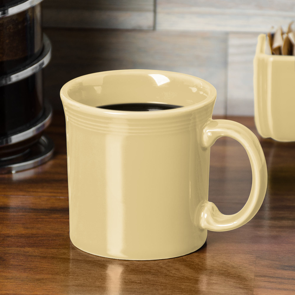 Homer Laughlin 570330 Fiesta Ivory 12 oz. Java Mug - 12/Case