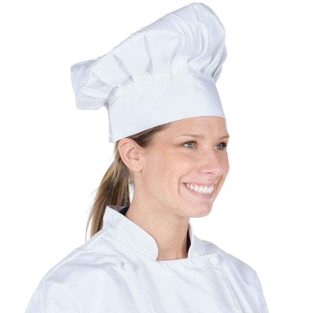 Chef Revival H400wh 13 Quot White Poly Cotton Blend Chef Hat With Adjustable Head Band
