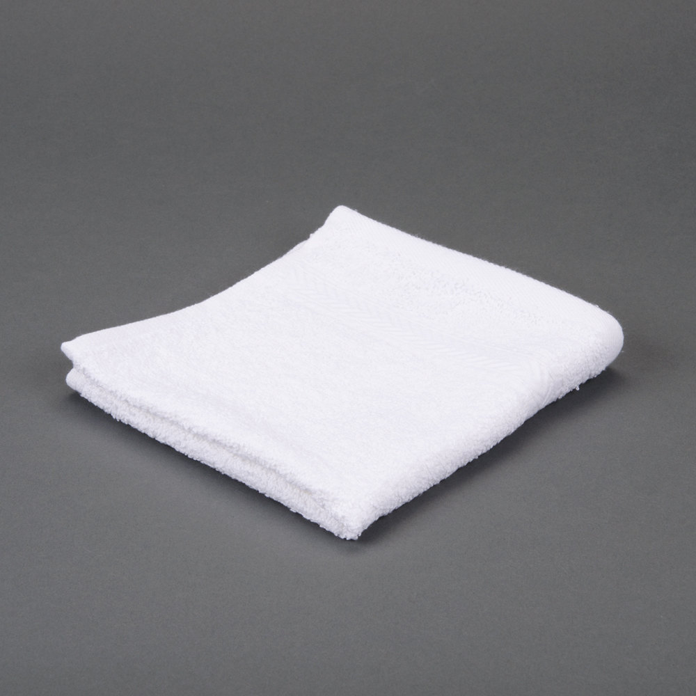 "Pack of 12 Hotel Wash Cloth - Gold 13"" x 13"" 86/14 Cotton-Polyester Blend 1.5 lb."