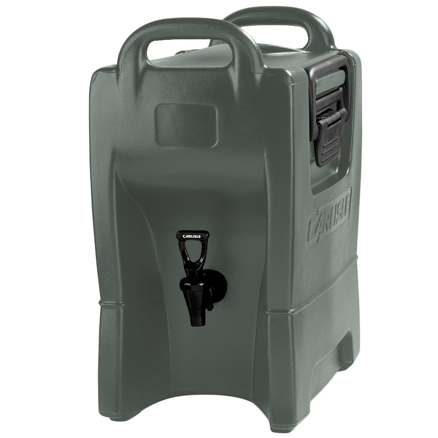 Carlisle IT25062 Olive Green 2.5 Gallon Insulated Beverage Server