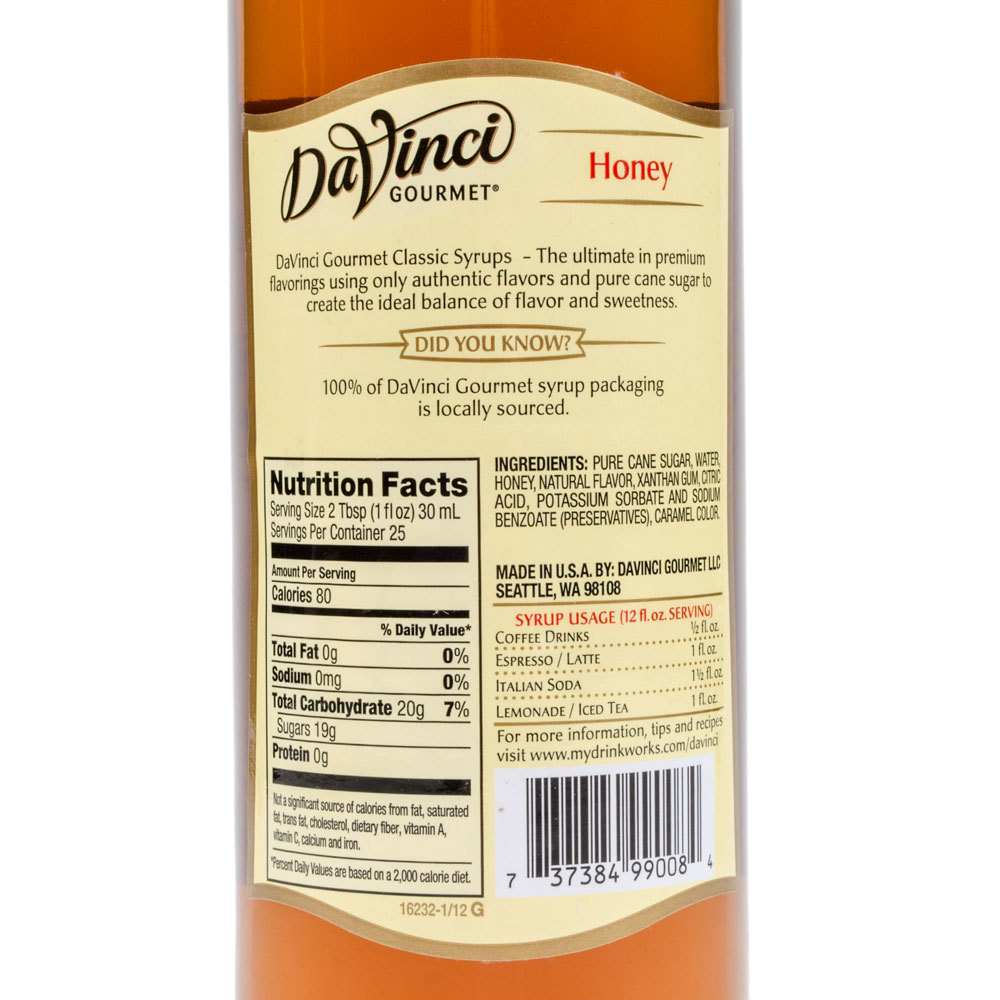 $1299 sugar free madagascar vanilla syrup from davinci gourmet is made with real, authentic madagascar van