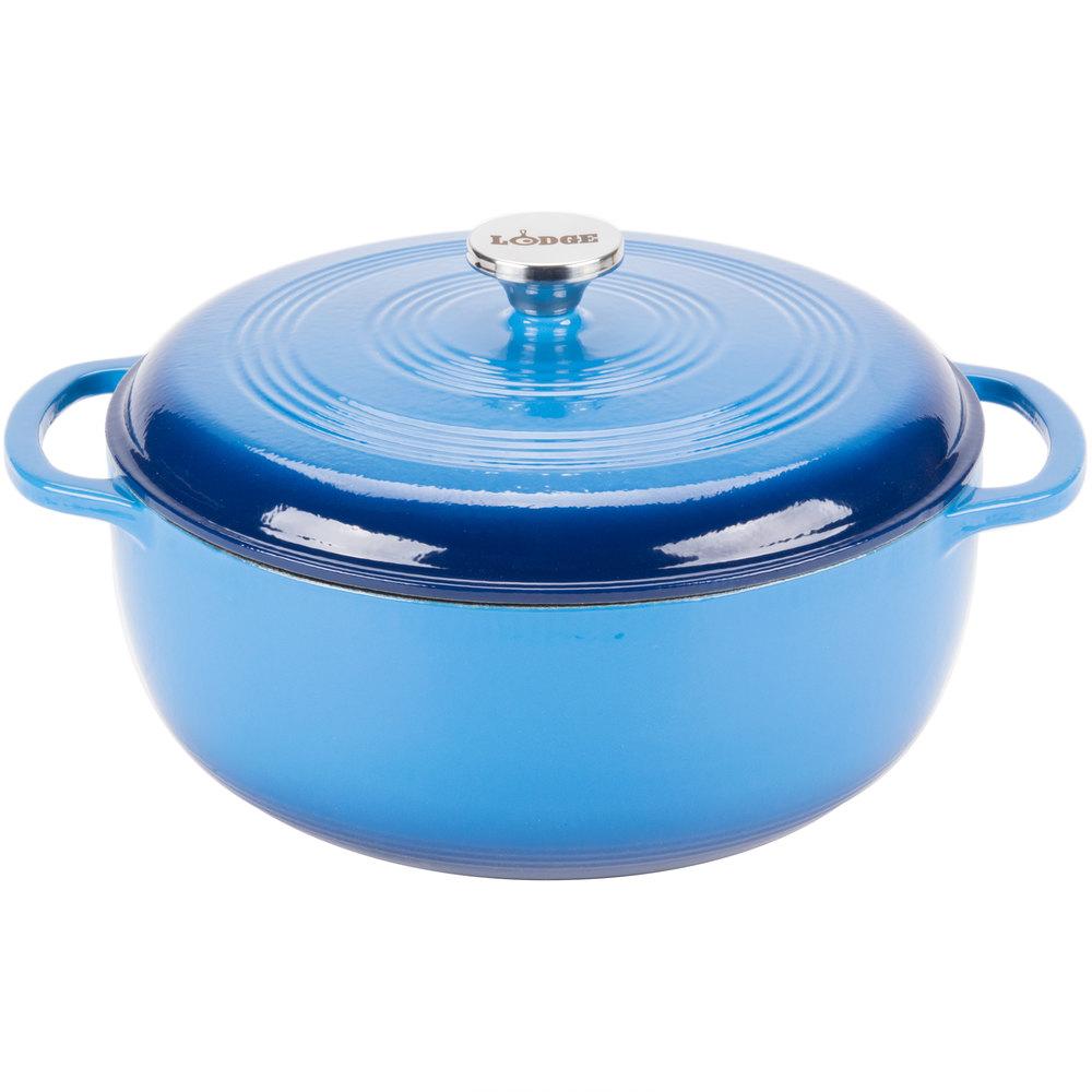 lodge ec7d33 7 8 qt caribbean blue color enamel dutch oven. Black Bedroom Furniture Sets. Home Design Ideas