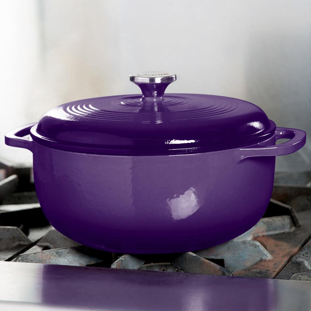lodge ec6d93 6 qt cafe purple color enamel dutch oven. Black Bedroom Furniture Sets. Home Design Ideas