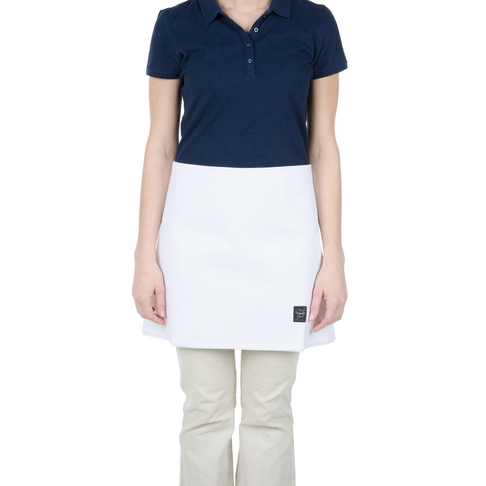 White half apron - White Half Apron 8