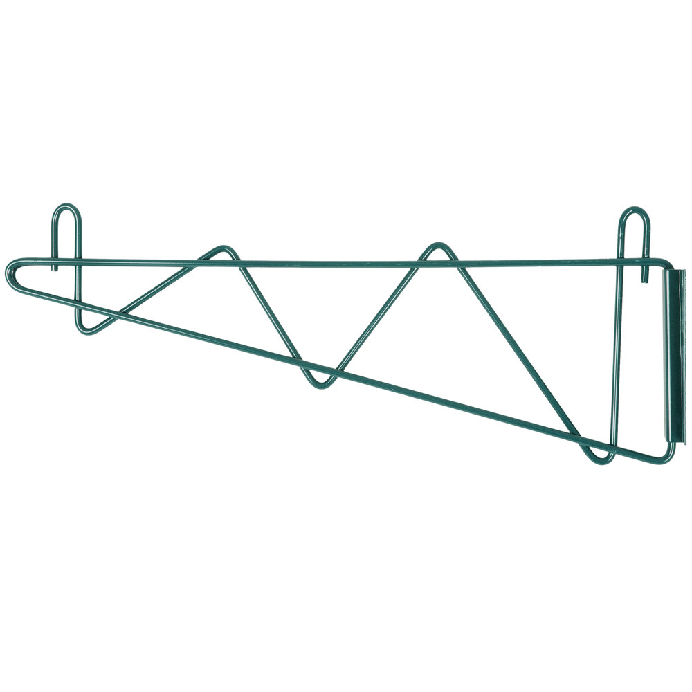 "Regency 18"" Deep Wall Mounting Bracket Set for Green Epoxy Wire Shelving"