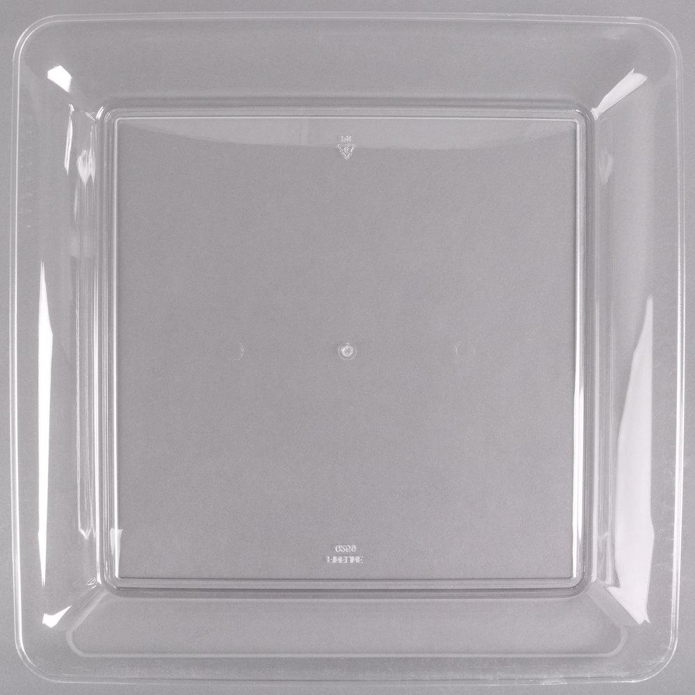 Fineline Platter Pleasers 3541 Cl 14 Quot X 14 Quot Plastic Clear