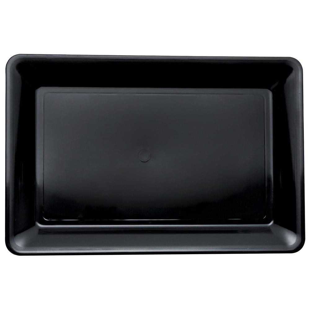 fineline platter pleasers 3518 bk 12 x 18 plastic black rectangular tray. Black Bedroom Furniture Sets. Home Design Ideas