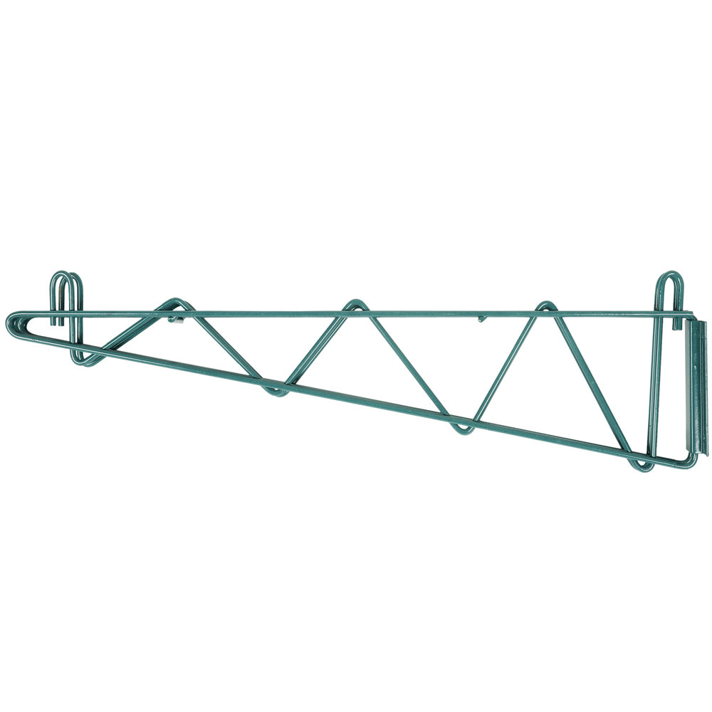 "Regency 24"" Deep Double Wall Mounting Bracket for Adjoining Green Epoxy Wire Shelving"