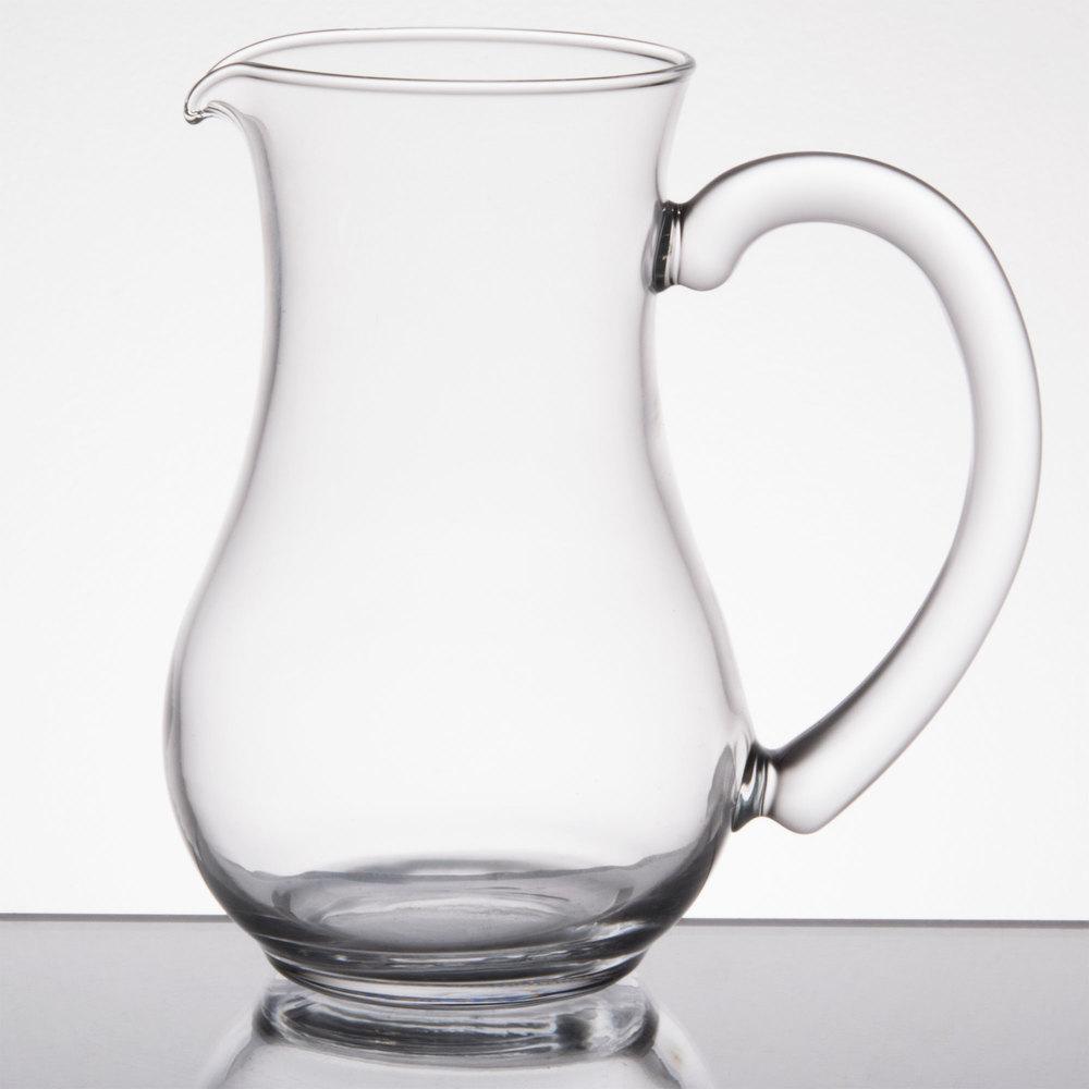 arcoroc c0216 8 5 oz glass pitcher with pour lip by arc cardinal 12 case. Black Bedroom Furniture Sets. Home Design Ideas