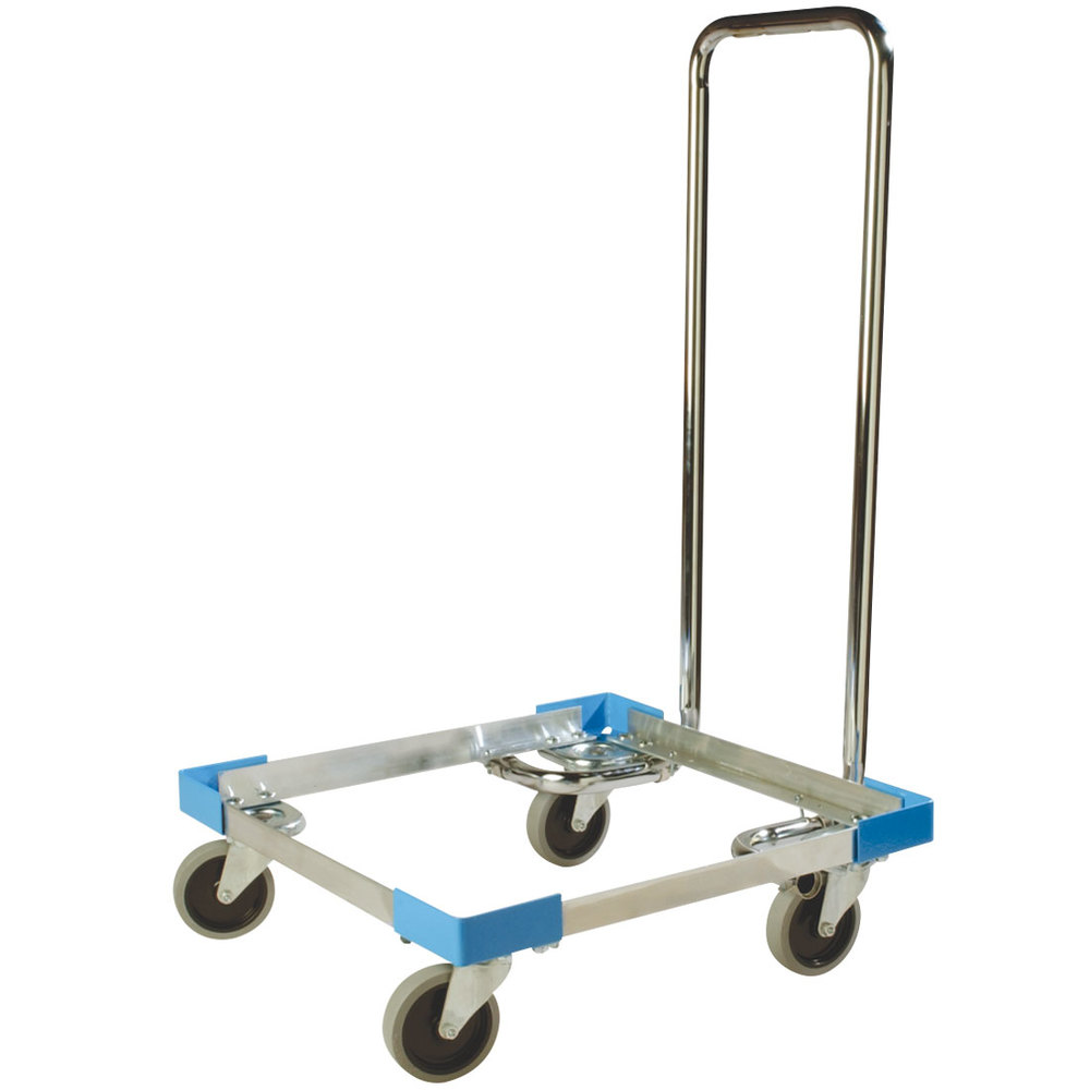 Carlisle C2222A14 Aluminum Glass Rack Dolly with Handle