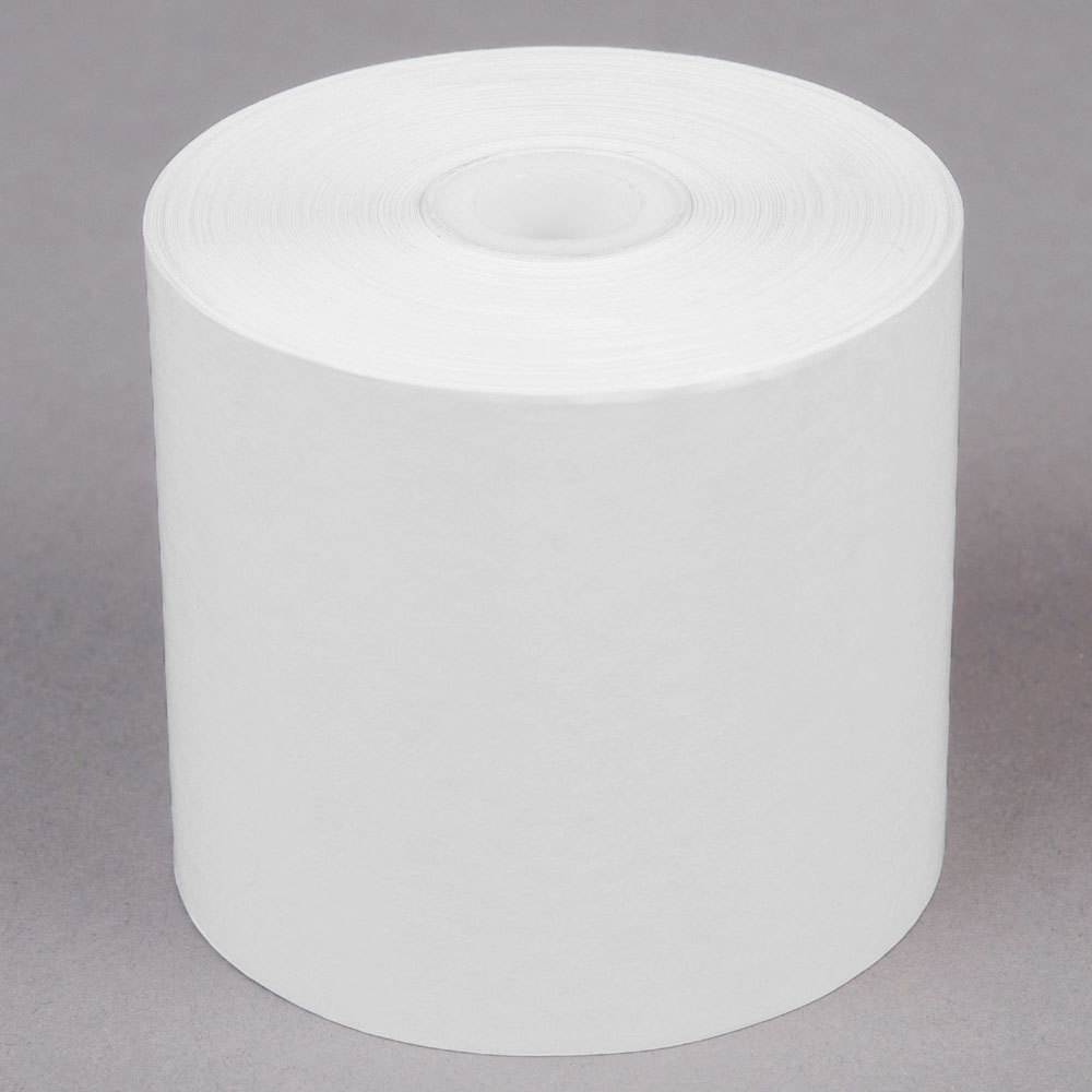 "2 1/4"" x 200' Thermal Cash Register POS Paper Roll Tape - 50/Case"
